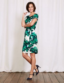 Meadow Green Botanical Bird Ivy Dress