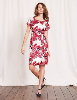Pink Fizz Botanical Bird Ivy Dress