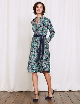 Navy Botanical Gardens Posy Shirt Dress