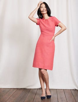 Mid Pink/Dahlia Red Sylvie Seamed Dress