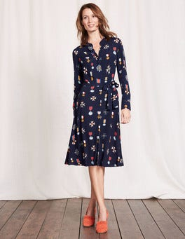 Navy Medal Jessica Dress