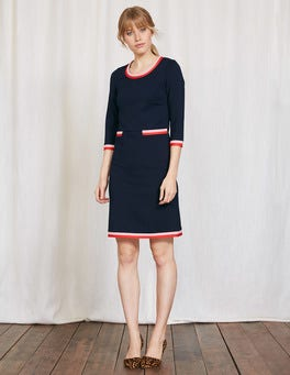 Navy Gloria Ponte Dress