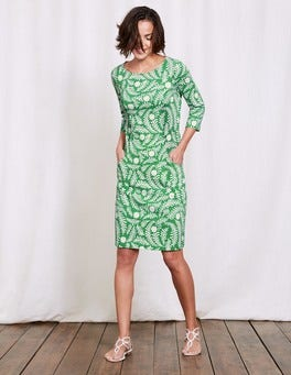 Wasabi Large Floral Vine Sorrento Jersey Shift Dress