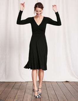Black Long Sleeve Georgia Dress