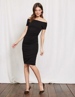 Off Shoulder Ruched Dress