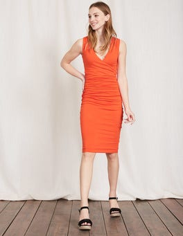 Tulip Crossover Ruched Dress