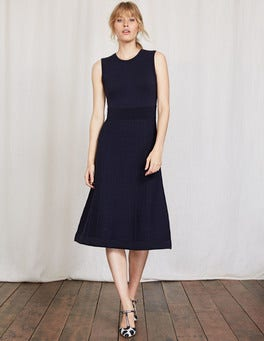 Navy Eleana Knitted Dress