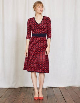 Snapdragon Linked Floral Amy Knitted Dress