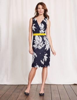 Navy Wisteria Bunch Nadia Dress