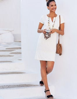 Clio Broderie Jersey Dress