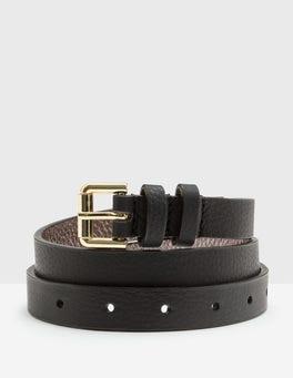 Black Skinny Belt