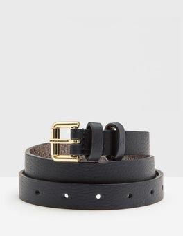 Navy Skinny Belt
