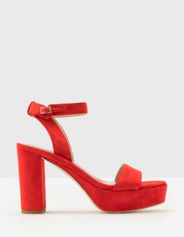 Post Box Red Delanie Pumps