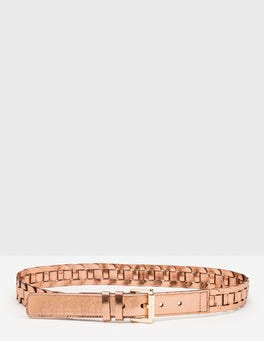 Rose Gold Eleana Woven Belt