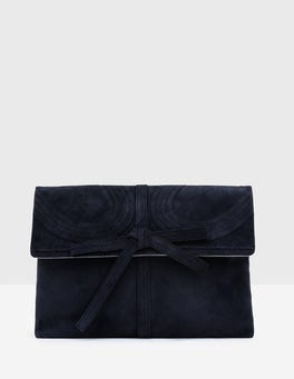 Navy Octavia Clutch
