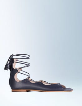 Navy Freida Lace Up Sandal