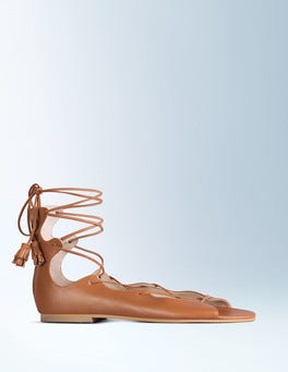 Tan Freida Lace Up Sandal