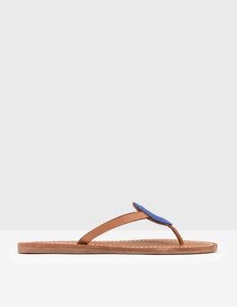 Island Sapphire Beaded Flip Flop