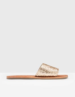 Light Gold Glitter Angelina Slide