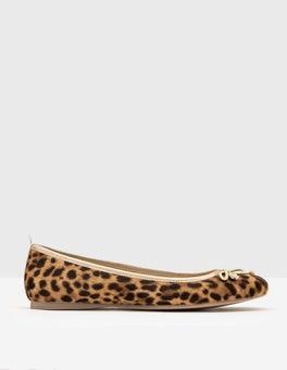 Tan Leopard Ballerina