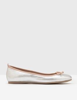 Silver Metallic Ballerina