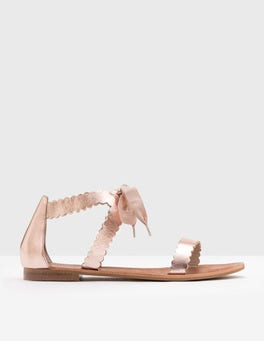 Rose Gold Scallop Sandals