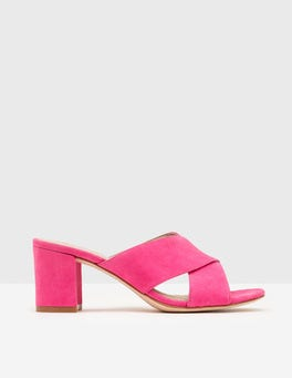 Mid Pink Pamela Suede Mules