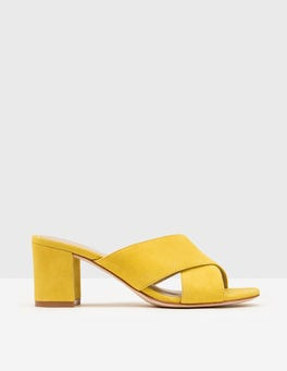 Mimosa Yellow Pamela Suede Mules