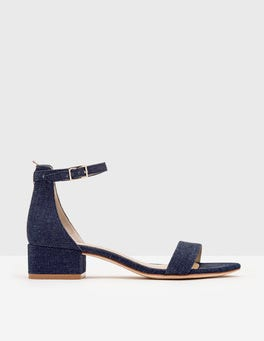 Dark Denim Maxine Block Heels
