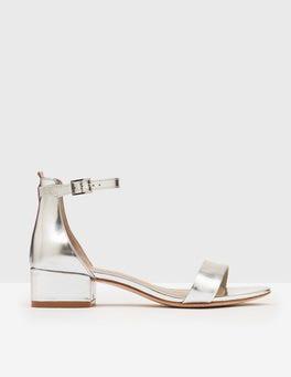 Silver Metallic Maxine Block Heels