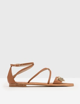 Tan Embellished Sandal
