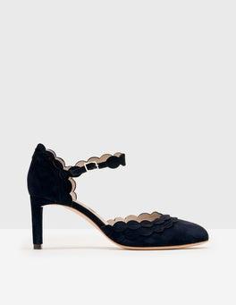 Navy Elsie Mid Heels