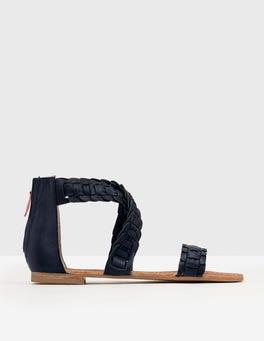 Navy Eleana Woven Sandal