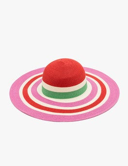 Strawberry Sundae Stripe Sun Hat