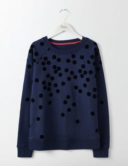 Navy Flock Spot Make A Statement Sweatshirt