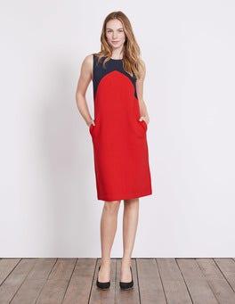 Post Box Red/Navy Edwina Ottoman Dress