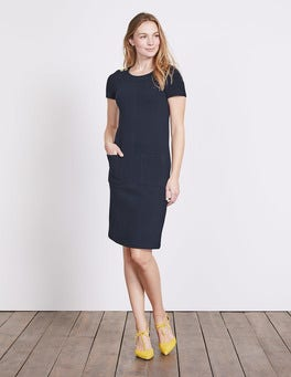 Navy Hermione Ottoman Dress
