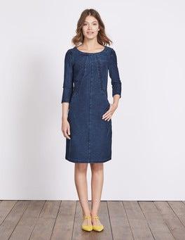 Dark Denim (Rinse) Hannah Jersey Dress