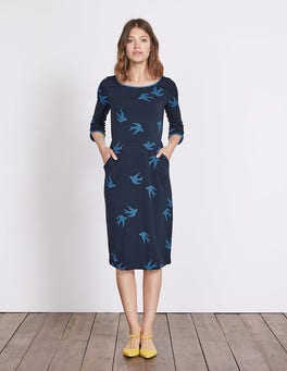 Navy Swallow Jessie Jersey Dress