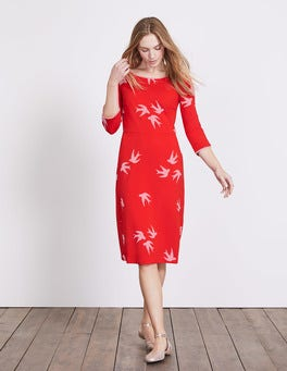 Post Box Red Swallow Jessie Jersey Dress