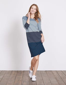 Delph Blue Multi Stripe Lille Breton Dress