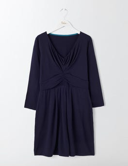 Navy Spaced Swan Marion Jersey Tunic