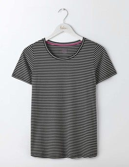 Black/Ivory Supersoft Easy Tee