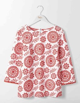 Medallion and Leaf Broderie Mila Broderie Top