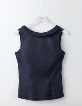 Navy Martha Top