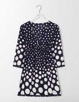 Navy Graded Spot Esmeralda Beach Kaftan