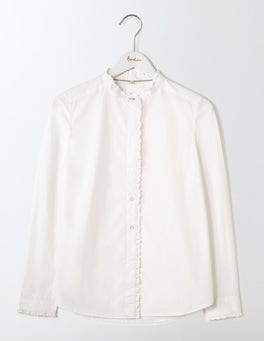 White Virginie Ruffle Shirt