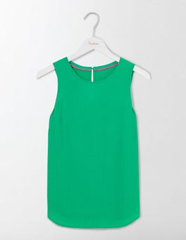 Meadow Green Claudette Shell Top