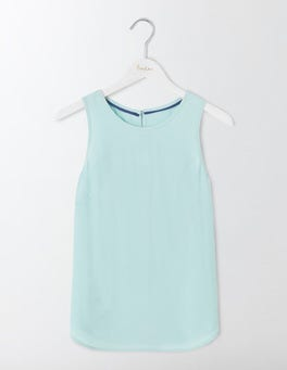 Mineral Blue Claudette Shell Top