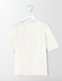 Ivory Althea Lace Top
